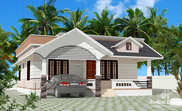 946 Sq Ft 2BHK Traditional Style Single Floor Home and Free Plan