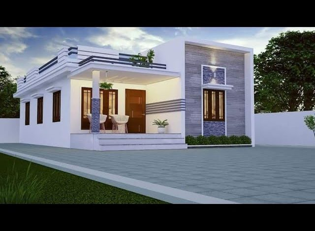 975 Sq Ft 2BHK Contemporary Style Home and Free Plan, 13.5 Lacks