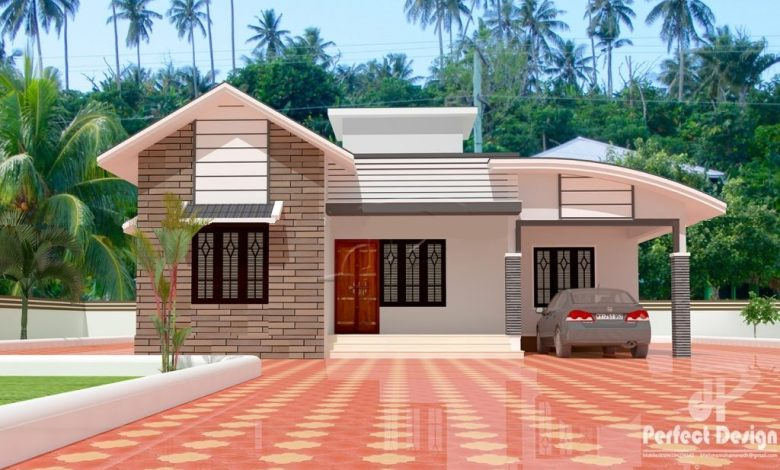 1097 Sq Ft 3BHK Contemporary Style Home and Free Plan, 16 Lacks