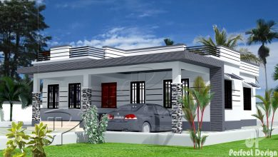 Photo of 1129 Sq Ft 3BHK Contemporary Style Home and Free Plan