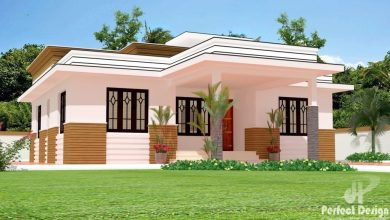 Photo of 1150 Sq Ft 3BHK Modern Single Storey Home and Free Plan, 17 Lacks