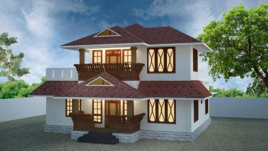 Photo of 1550 Sq Ft 4BHK Traditional Style Two Storey House and Free Plan