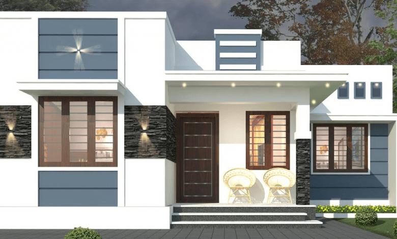 552 Sq Ft 2BHK Modern Single Storey Home and Free Plan, 9 Lacks