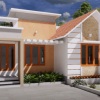 650 Sq Ft 2BHK Contemporary Style House and Free Plan, 10 Lacks