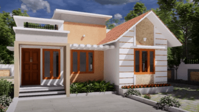 Photo of 650 Sq Ft 2BHK Contemporary Style House and Free Plan, 10 Lacks