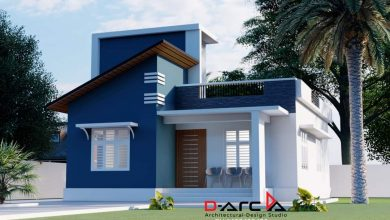Photo of 750 Sq Ft 2BHK Contemporary Style Single Floor Home and Free Plan, 12 Lacks