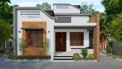 Photo of 850 Sq Ft 2BHK Contemporary Style Home and Free Plan