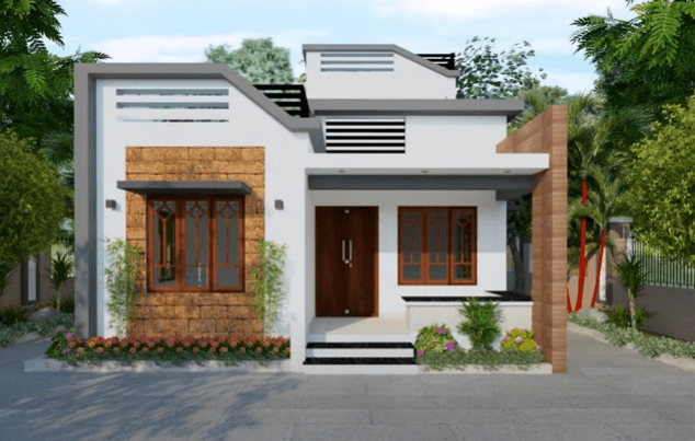850 Sq Ft 2BHK Contemporary Style Home and Free Plan