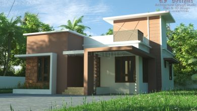 Photo of 979 Sq 2BHK Contemporary Style Single Storey Home and Free Plan