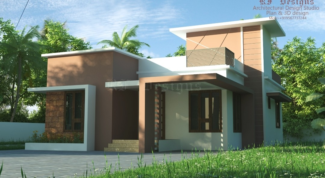 979 Sq 2BHK Contemporary Style Single Storey Home and Free Plan
