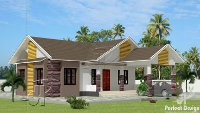 Photo of 1101 Sq Ft 3BHK Colonial Style Single Floor Home and Free Plan, 16 Lacks