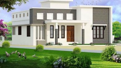 Photo of 1235 Sq Ft 3BHK Contemporary Style Home and Free Plan, 18 Lacks