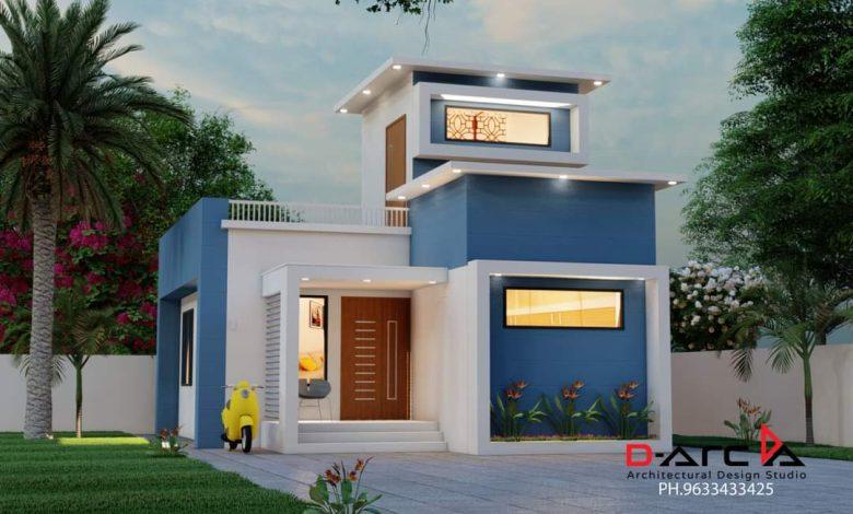 625 Sq Ft 2BHK Modern Single Storey Home and Free Plan, 10 Lacks