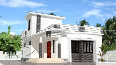 Photo of 700 Sq Ft 2BHK Contemporary Style Home and Free Plan, 10 Lacks