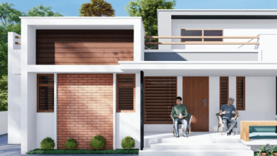 Photo of 950 Sq Ft 2BHK Contemporary Style Single Storey Home and Free Plan, 13 Lacks